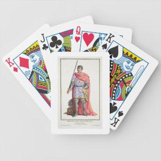 """Bertrand du Guesclin (1320-80) de """"DES E de Receui Cartes De Poker"""