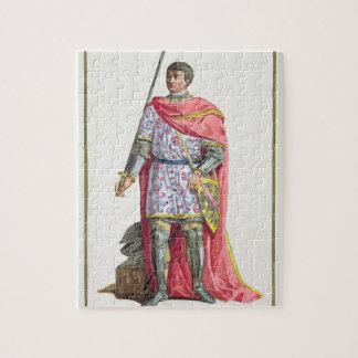 "Bertrand du Guesclin (1320-80) de ""DES E de Receui Puzzle Avec Photo"