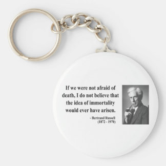 Bertrand Russell Quote 1b Keychain