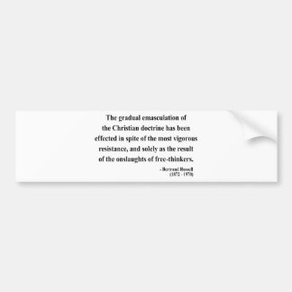 Bertrand Russell Quote 7a Bumper Sticker