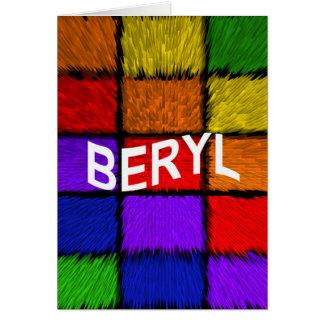 BERYL CARD