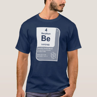 Beryllium (Be) T-Shirt