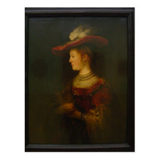 Beschreibung: Rembrandt, Saskia von Uylenburgh im  Postcard