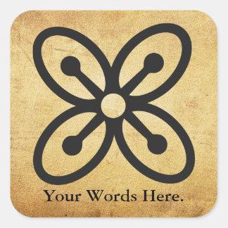 BESE SAKA | Symbol of Affluence, Power, Abundance Square Sticker