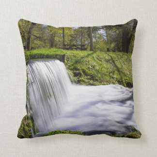 Beside Hodgson Spring Falls Throw Pillow