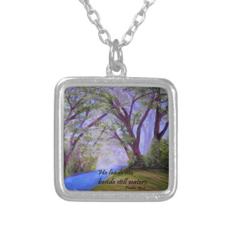 Beside Still Waters Silver Plated Necklace