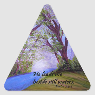 Beside Still Waters Triangle Sticker