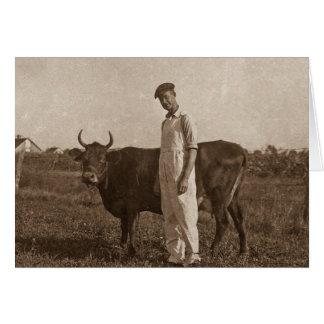 Bessie the Cow Card