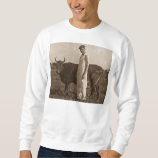 Bessie the Cow Vintage Farmer Sweatshirt