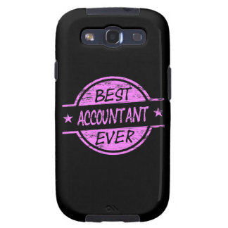 Best Accountant Ever Pink Galaxy SIII Cover
