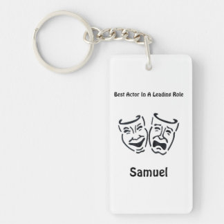 Best Actor/Lead Role: Samuel Single-Sided Rectangular Acrylic Keychain