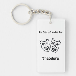 Best Actor/Lead Role: Theodore Single-Sided Rectangular Acrylic Keychain