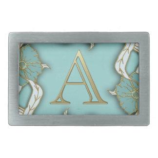 Best Alphabet Letter Initial Monogram Background Rectangular Belt Buckle