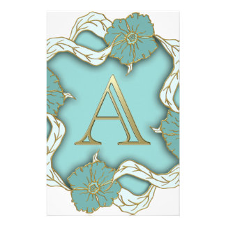 Best Alphabet Letter Initial Monogram Background Stationery