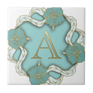 Best Alphabet Letter Initial Monogram Background Tile