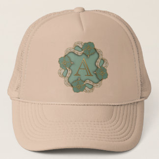 Best Alphabet Letter Initial Monogram Background Trucker Hat