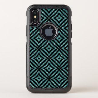 Best Aqua & Black Glitter OtterBox  iPhone X