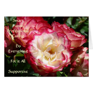 Best Assistant! card Pink Roses Smart Funny