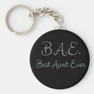 Best Aunt Ever BAE Keychain