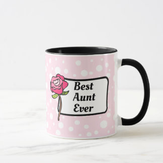 Best Aunt Ever Pink Polka Dotted Coffee Mug