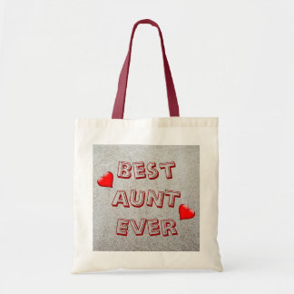 Best aunt ever | Sand texture photo Tote Bag