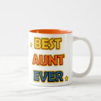 Best Aunt ever Two-Tone Coffee Mug