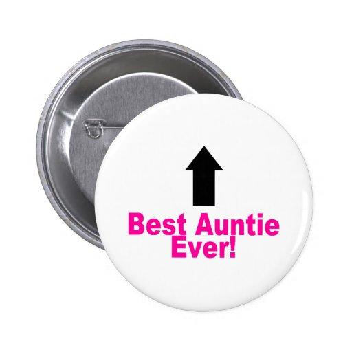 Best Auntie Ever Button