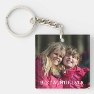 Best auntie ever Personalized Photo Key Chain