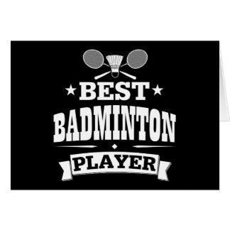 Best Badminton Player Card