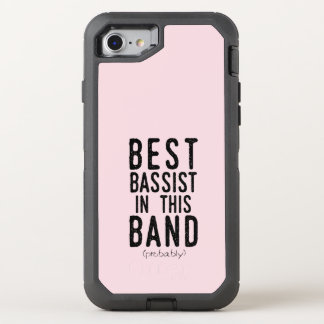 Best Bassist (probably) (blk) OtterBox Defender iPhone 8/7 Case