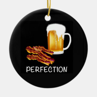 Best Beer and Bacon gifts and accessories ever! Ceramic Ornament