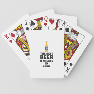 Best Beer is brewed in April Z86r8 Playing Cards