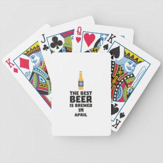 Best Beer is brewed in April Z86r8 Poker Deck