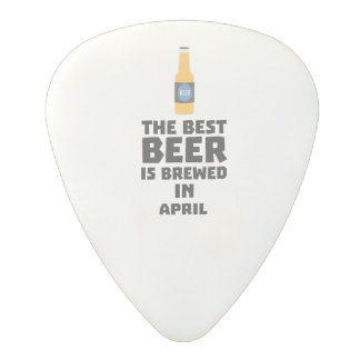 Best Beer is brewed in April Z86r8 Polycarbonate Guitar Pick
