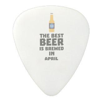 Best Beer is brewed in April Z86r8 Polycarbonate Guitar Pick