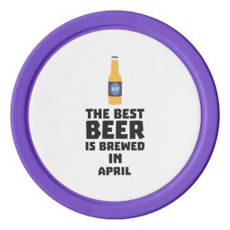 Best Beer is brewed in April Z86r8 Set Of Poker Chips