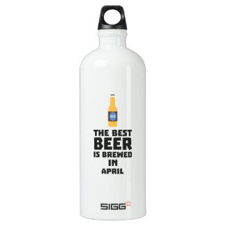 Best Beer is brewed in April Z86r8 Water Bottle