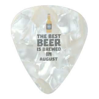 Best Beer is brewed in August Zw06j Pearl Celluloid Guitar Pick