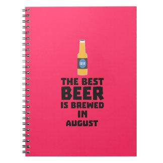 Best Beer is brewed in August Zw06j Spiral Notebook