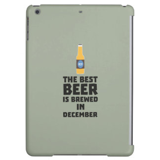 Best Beer is brewed in December Zfq4u Cover For iPad Air