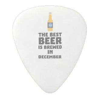 Best Beer is brewed in December Zfq4u Polycarbonate Guitar Pick