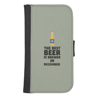 Best Beer is brewed in December Zfq4u Samsung S4 Wallet Case
