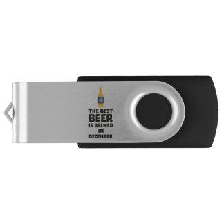 Best Beer is brewed in December Zfq4u USB Flash Drive