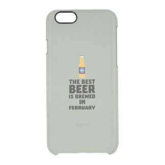 Best Beer is brewed in February Z4i8g Clear iPhone 6/6S Case