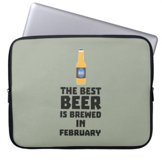 Best Beer is brewed in February Z4i8g Laptop Sleeve