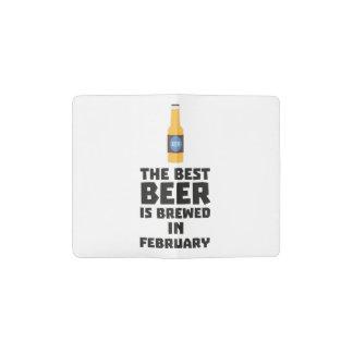 Best Beer is brewed in February Z4i8g Pocket Moleskine Notebook