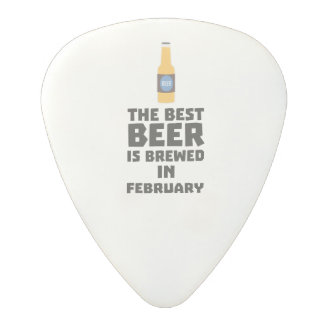 Best Beer is brewed in February Z4i8g Polycarbonate Guitar Pick