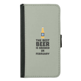 Best Beer is brewed in February Z4i8g Samsung Galaxy S5 Wallet Case