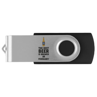 Best Beer is brewed in February Z4i8g USB Flash Drive