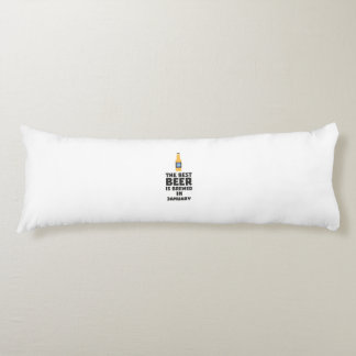 Best Beer is brewed in January Zxe8k Body Pillow
